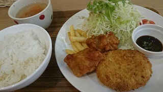 KAORIKANからあげ&コロッケ定食.jpg